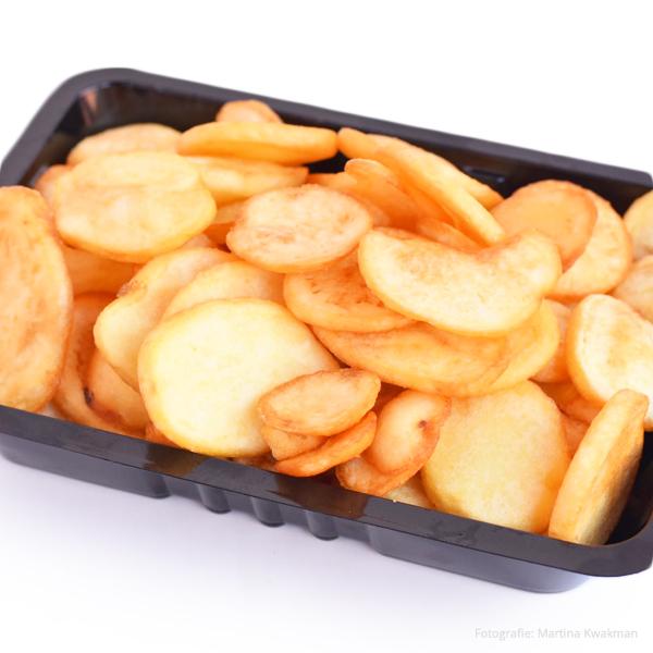 Aardappelschijfjes groot
