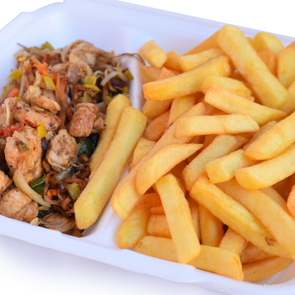 Oosterse kip met patat